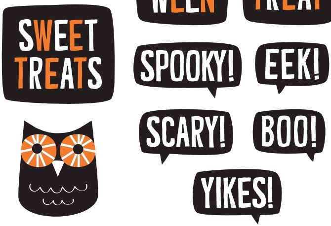 Imprimibles de Halloween - etiquetas y pegatinas