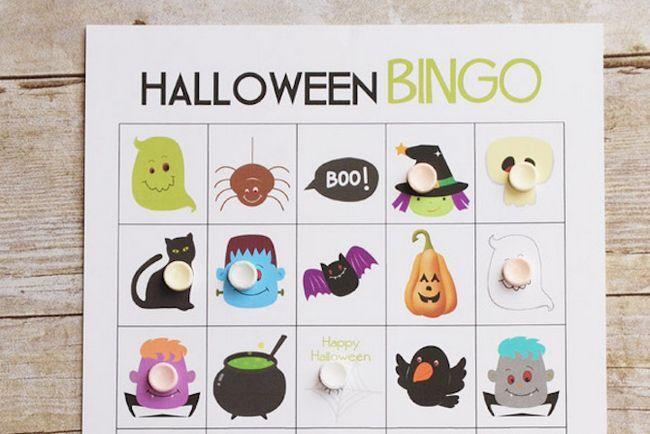 Imprimibles de Halloween - cartones de bingo