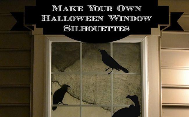 Imprimibles de Halloween - Siluetas de ventana