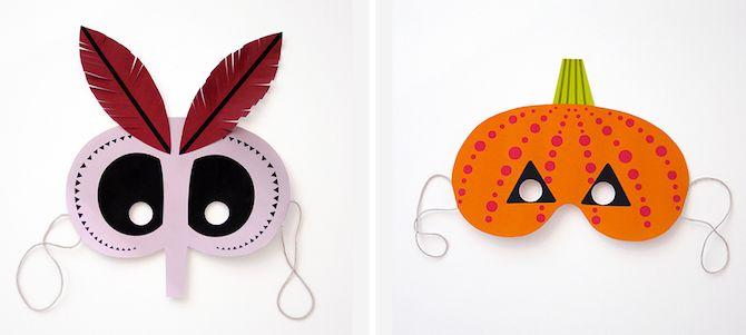 Imprimibles de Halloween - Máscaras del monstruo