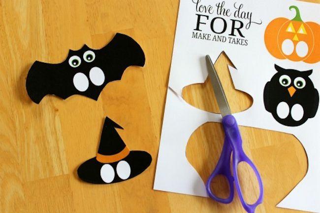 Imprimibles de Halloween - marionetas del dedo