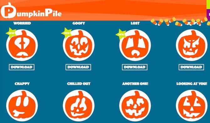 Imprimibles de Halloween - Pila de calabaza