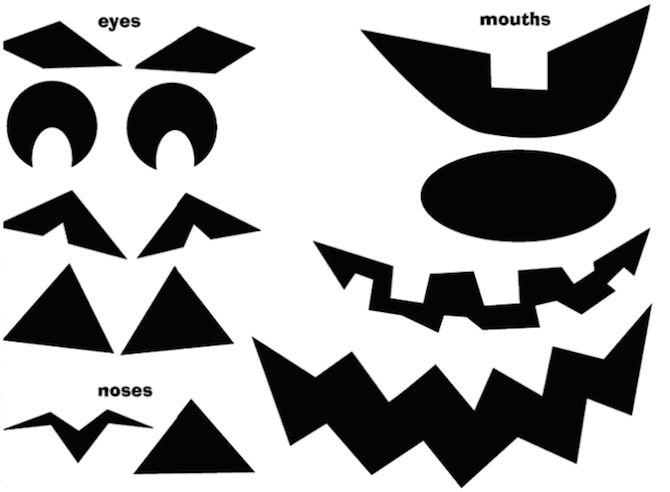Imprimibles de Halloween - Jack o`Lantern Parts