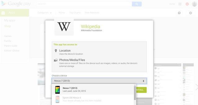 AndroidGooglePlay en la Web