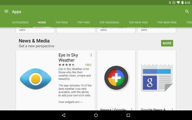 AndroidGooglePlay-app-Secciones