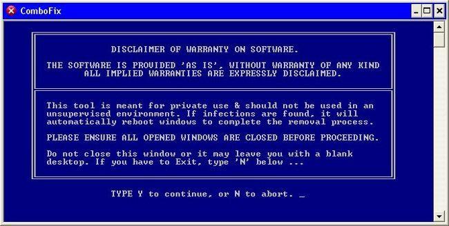 ComboFix en busca de malware