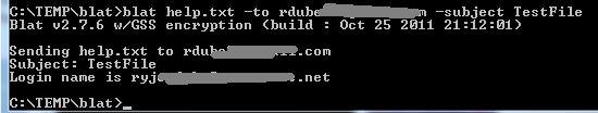 utilidad de línea de comandos de correo electrónico blat