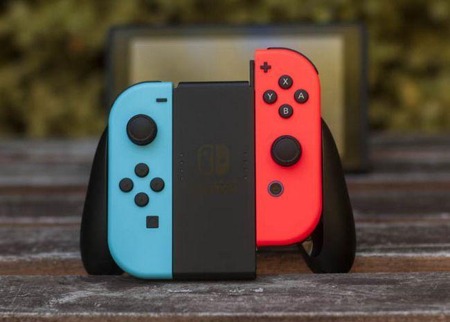 interruptor de Nintendo alegría acondicionado agarre