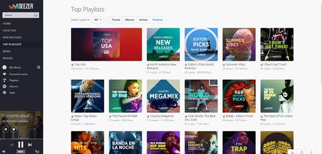 Deezer-música-web-Navegar
