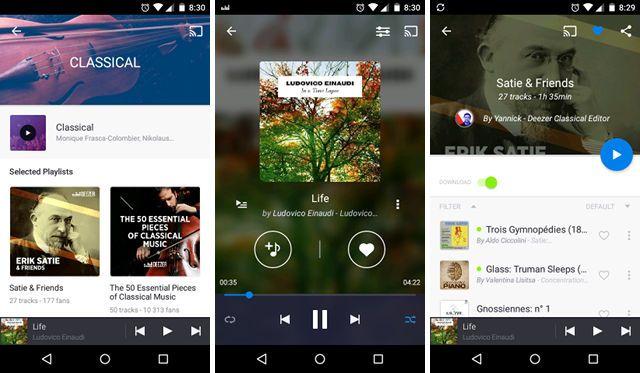 Deezer-música-app-androide