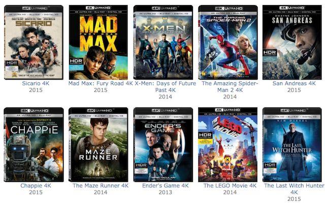 Blu-ray-4K-películas ultra-HD