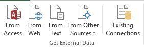 Excel Tab datos externos