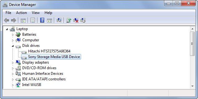 Administrador de dispositivos extraíbles-drives
