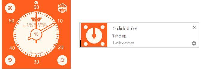 1clicktimer extensión de Chrome