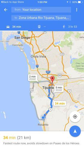 Google mapas en iOS