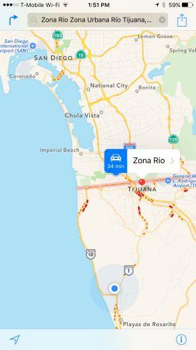 manzanos mapas en iOS