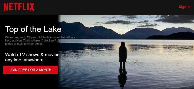 parte superior del lago