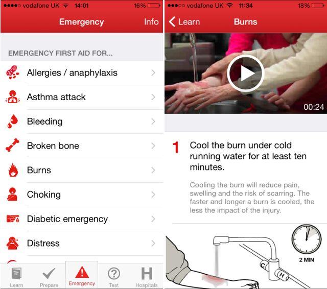 rojo-cross-primeros auxilios aplicación