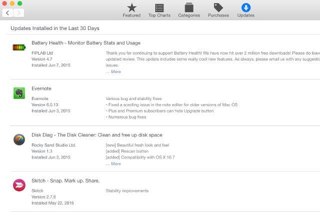 almacenes actualizaciones mac-app;