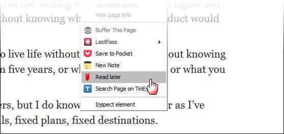 guardar páginas para leer sin conexión