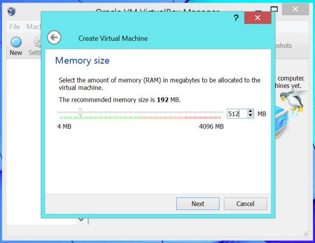 Select-RAM-en-virtualbox