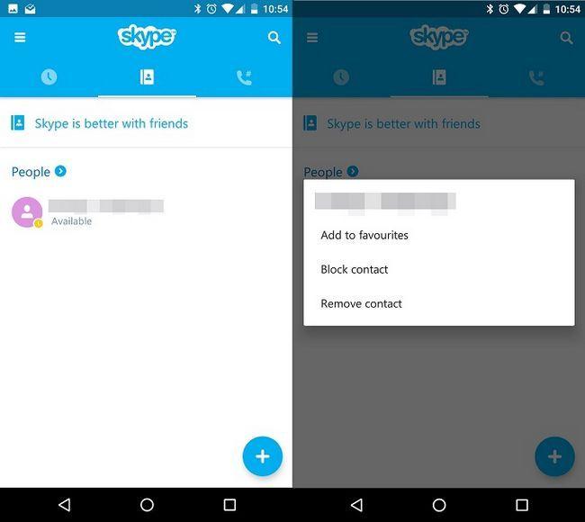 contactos de Skype borrar
