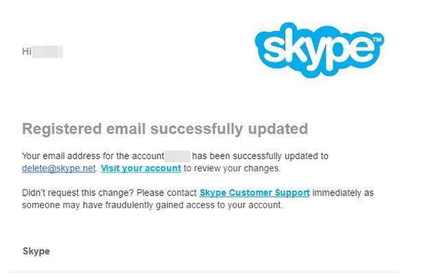 Skype eliminación de la cuenta
