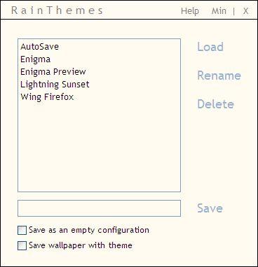 seleccionar la apariencia de Rainmeter