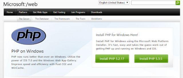 sitio de PHP
