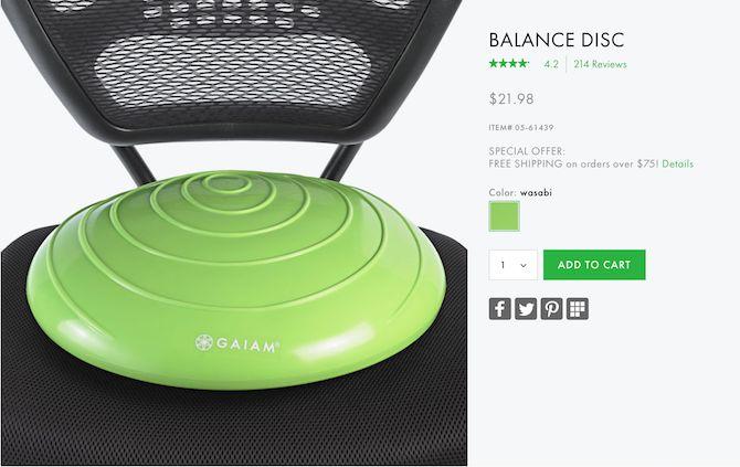 asiento disco equilibrio