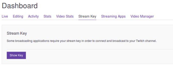 Twitch Mostrar clave