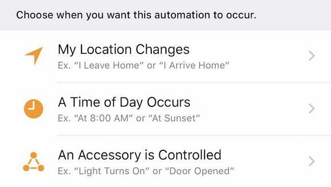 Ejemplos de manzana HomeKit Automatización