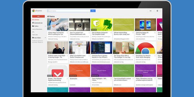 Nuevo administrador de marcadores de google chrome se centra en la organización y la búsqueda