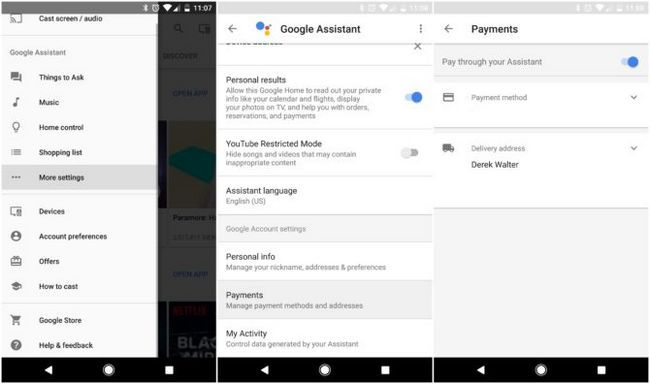 el pago de instalación auxiliar Google