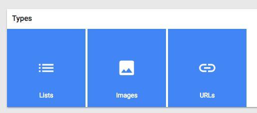 Google Keep tipos