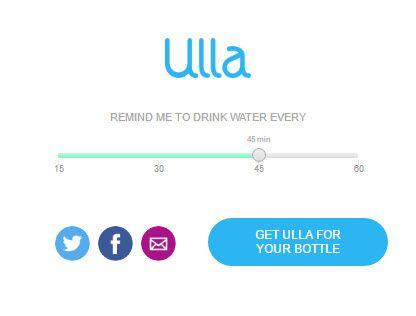 Beber agua con Ulla