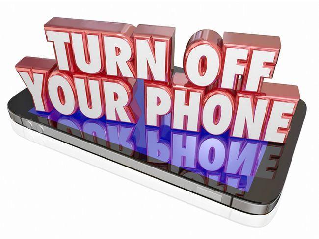 Apagar su teléfono Mensaje