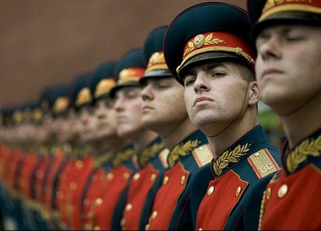 Guardia de honor en Rusia