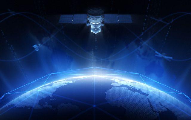 satélite de la red