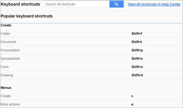 GoogleDriveKeyboardShortcuts