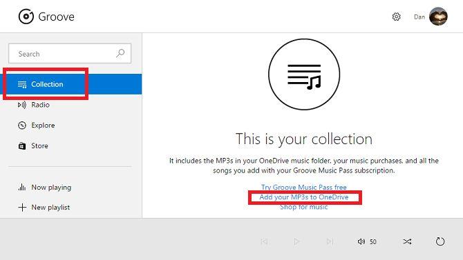 Xbox Music añadir a onedrive