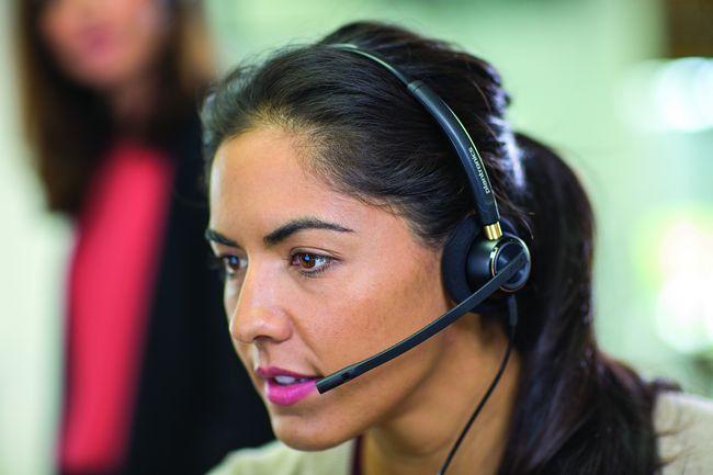 Vista de un centro de llamadas