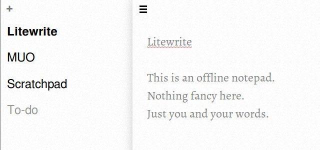 litewrite-offline