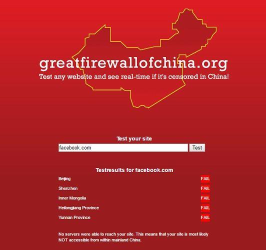 gran cortafuegos de China facebook
