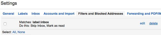 Gmail archivar eliminar el filtro