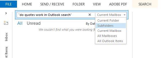 búsqueda de Outlook
