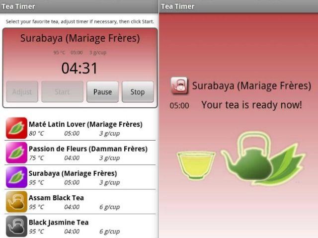 Perfecta taza de té Mobile App