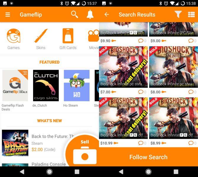 gameflip aplicación móvil de juegos baratos