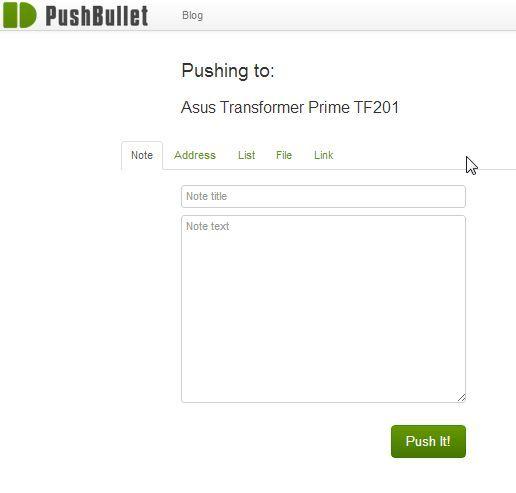 la transferencia de datos desde el PC a Android