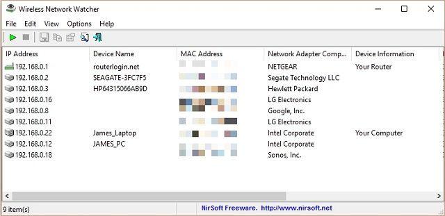 Wireless-Network-Vigilante de pantalla